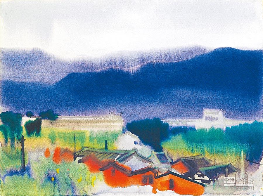 席德進畫作《紅屋》。 (國美館提供)