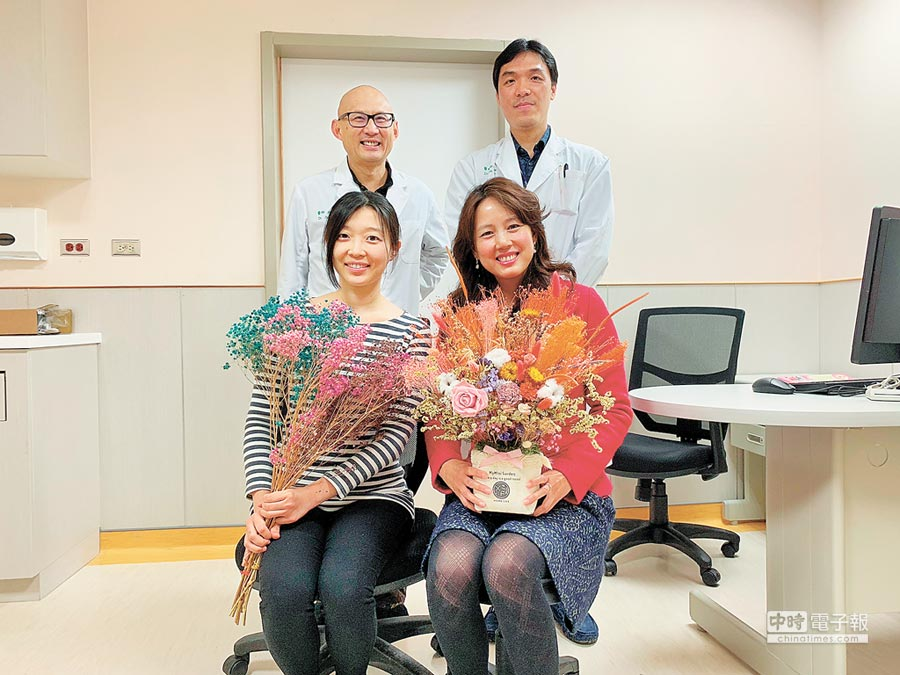 中國醫藥大學新竹附設醫院推出「健康情人節專案」,鼓勵女性施打子宮頸疫苗。(徐養齡攝)