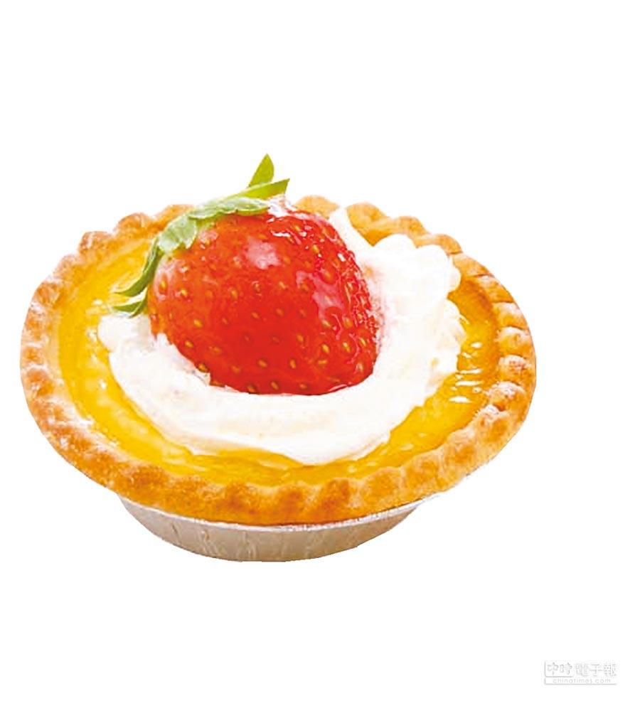 愛買草莓季冠軍「草莓塔」,28日前享特價,3個99元。(愛買提供)