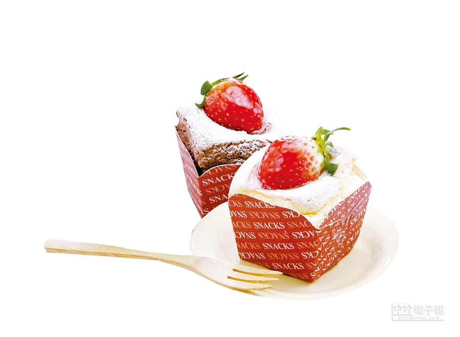 愛買草莓季亞軍「北海道草莓蛋糕」,28日前享特價,3個99元。(愛買提供)