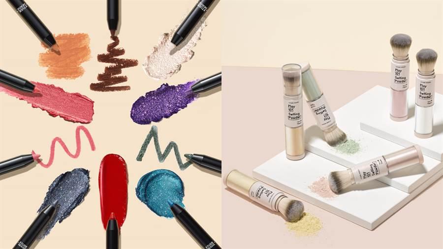 左-筆筆皆飾101變妝魔術筆,右-筆筆皆飾伸縮蜜粉修容刷。(圖/品牌提供)
