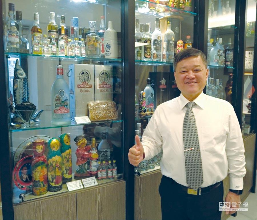 台樹股份有限公司董事長楊必誠是第一位拿中華民國護照進入蘇聯的台灣人,也是俄羅斯台灣商會創會會長。圖/謝易晏