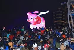 中台灣元宵燈會熱鬧登場 盧秀燕與民眾點亮主燈