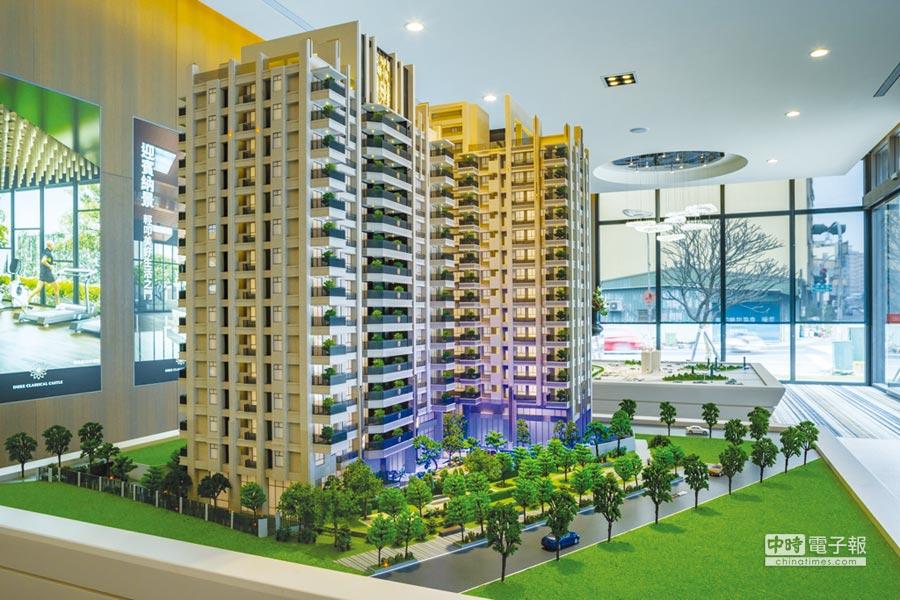 銳揚建設在大東藝文中心生活圈推出的「銳揚捷仕堡」預售住宅大樓。圖/顏瑞田