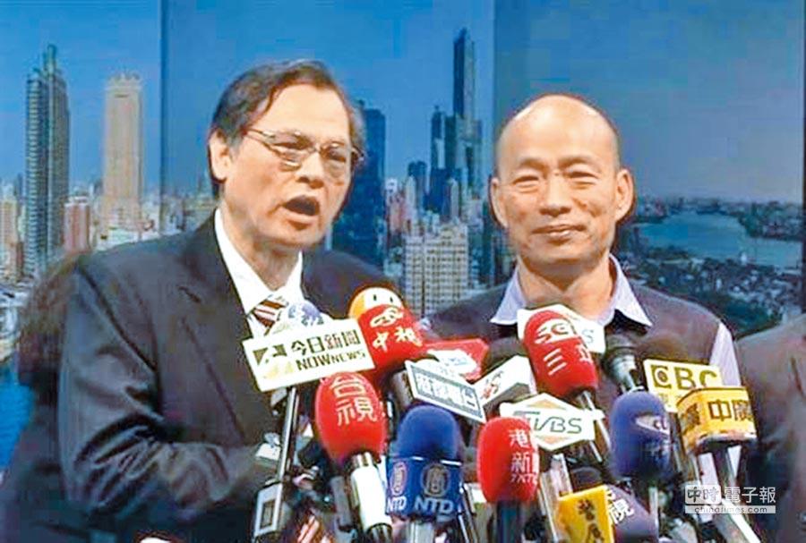 陸委會主委陳明通上月赴高雄與韓國瑜會面,昨被問及是否禁韓與陸簽協議時說,「只是讓他知道分際」。(本報資料照片)