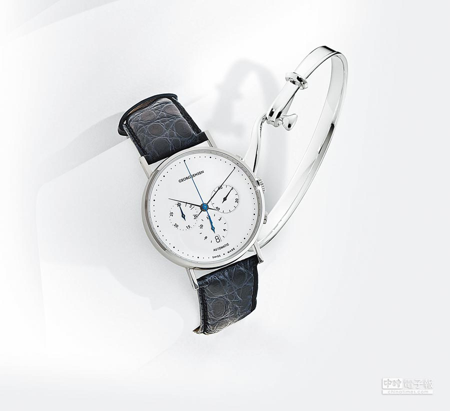 Georg Jensen Koppel腕表與Torun 204純銀手鐲。這兩項作品都可說是一時的設計之選。圖片提供各品牌