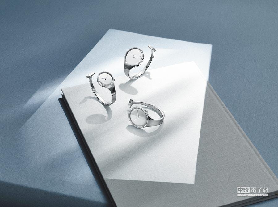 堪稱設計作品的經典,還被MoMA博物館典藏的Georg Jensen Vivianna朵蘭手鐲腕表。圖片提供各品牌