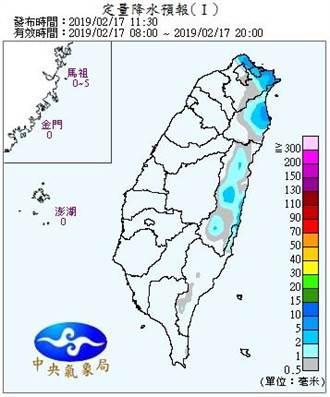 下周水氣一波波 明起北部回溫、周三再降