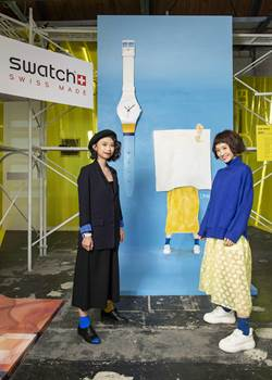 Swatch愛藝術快閃店 Lulu郭彥甫應邀創作