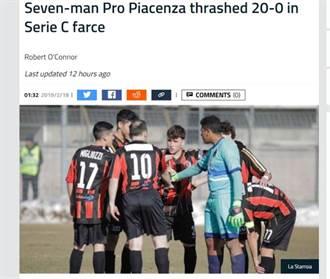 20比0!義大利足球史最黑暗一頁