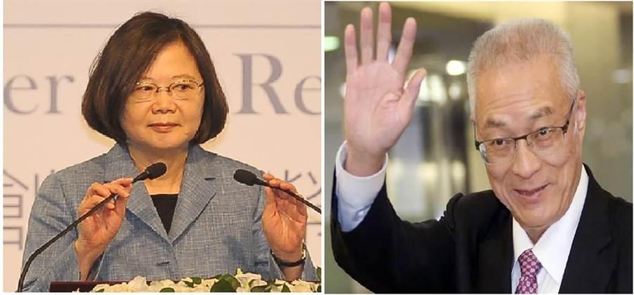 總統蔡英文(左)、國民黨黨主席吳敦義(右)。(圖/合成圖,本報資料照)