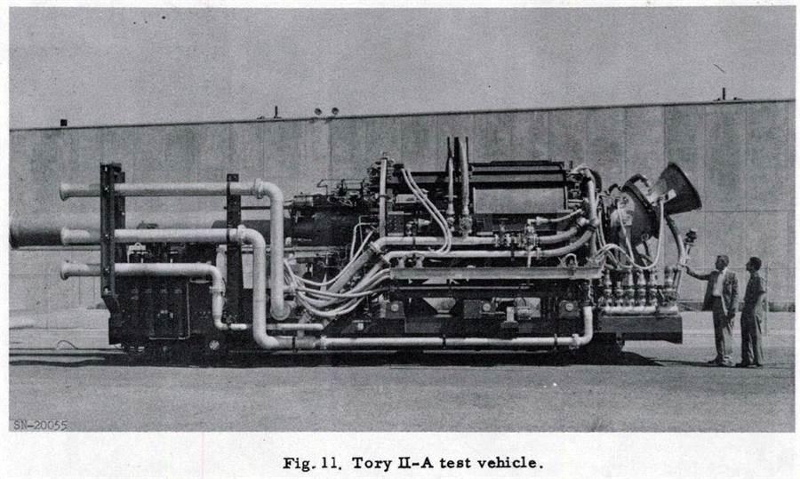 1960年,美國冥王星計畫的Tory II-A核動力衝壓引擎,顯然過於巨大。(圖/globalsecurity)