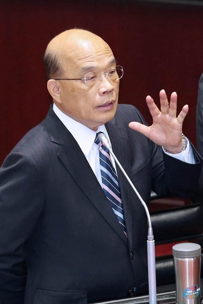 行政院長蘇貞昌。(黃世麒攝)