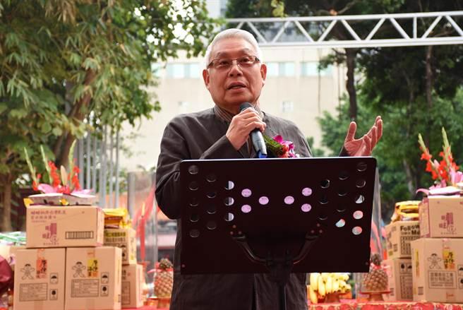 旺台基金會創辦人蔡衍榮以基金會名義興建日新國小旺台樓。(北市教育局提供)