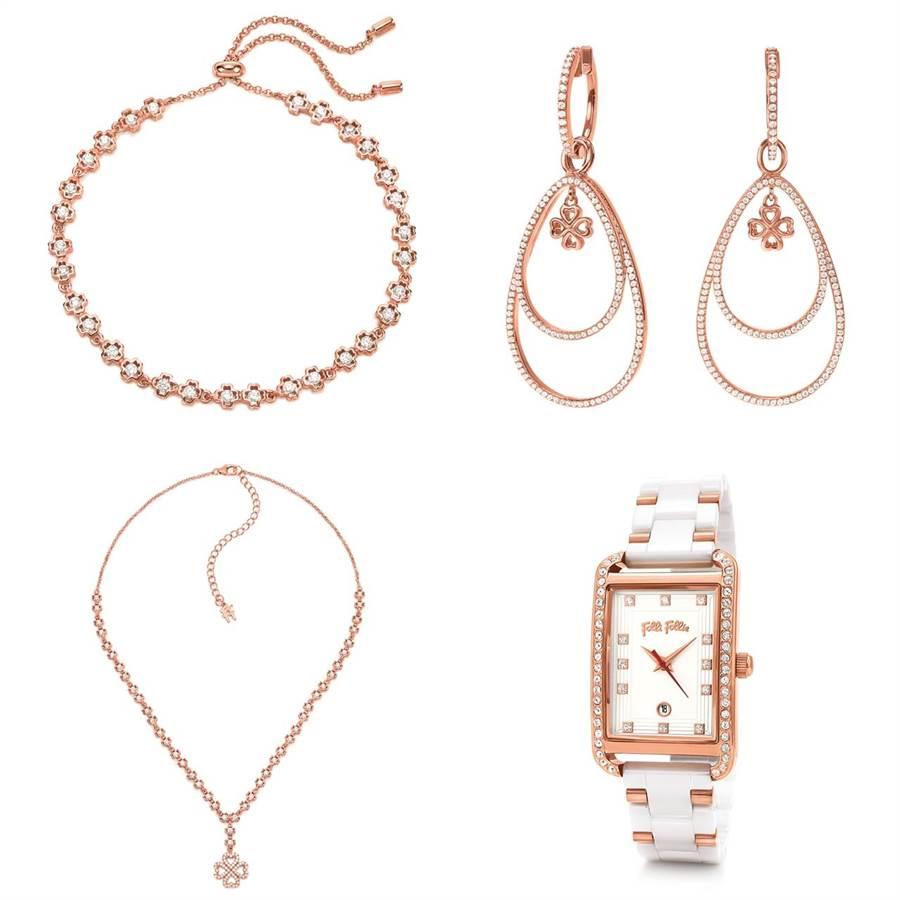 以四葉幸運草造型為水象星座們在2019年加持好運,925純銀材質,綴以綻放閃亮光芒的方形切割锆石,隨身配戴,綻放動人光芒,帶來自信,成為向前的助力。腕錶結合鋯石鑲嵌、玫瑰金鍍金錶殼以及奢華皮革與陶瓷材質的錶帶,精心打造出講究細節,耀眼而迷人,將成為水象星座們今年必備的隨身幸運物。 (圖/Folli Follie)