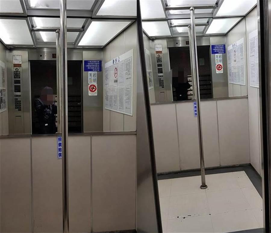 電梯中央「多了根鋼管」他好困惑 網揭貼心用途(圖翻攝自/爆怨公社)