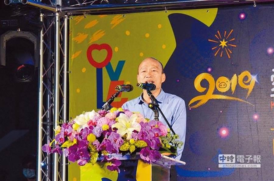 高雄市長韓國瑜。(資料照,林瑞益攝)