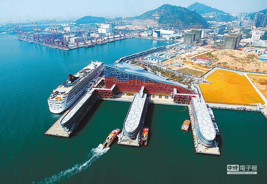 連通深圳、珠海、澳門、香港的深圳太子灣郵輪母港。(新華社資料照片)