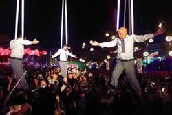 台灣燈會最驚喜節目!西班牙高空馬戲團30米高空華麗演出