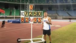 港都盃田徑賽》鄭兆村小試身手 82.93公尺輕鬆摘金
