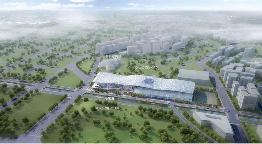 台中市府重大建設水湳智慧城,近幾年許多建商積極購地,被視為下一個七期的明星地段。(圖/台中市府提供)