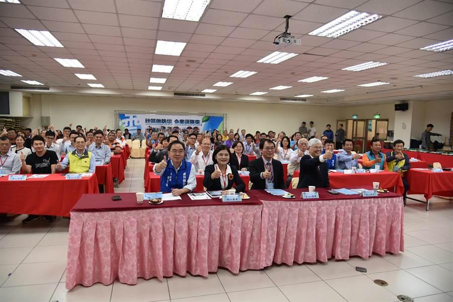 雲林縣政府推動水患社區防災,邀在地企業共襄盛舉。(張朝欣攝)