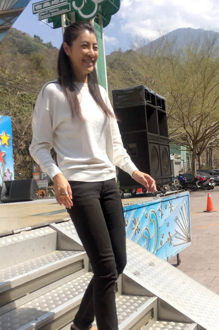許淑華被媒體形容為「逆天長腿」。(沈揮勝攝)
