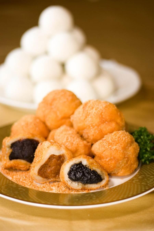 高雄國賓大飯店推出期間限定的炸元宵,熱銷直逼2萬顆。(高雄國賓大飯店提供)