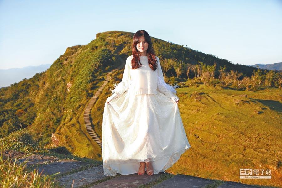 談詩玲日前在山林拍攝新歌〈流雲調〉MV。