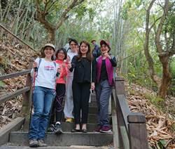 減重新招  觀光旅遊局長林筱淇帶同事爬大坑步道