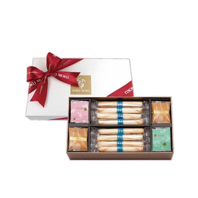 「盛樂禮盒(中)」內含20入餅乾。(圖片提供/YOKUMOKU)