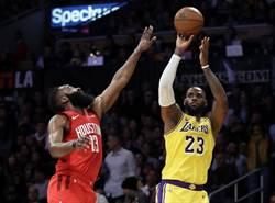 NBA》無視哈登續寫歷史 湖人逆轉勝火箭