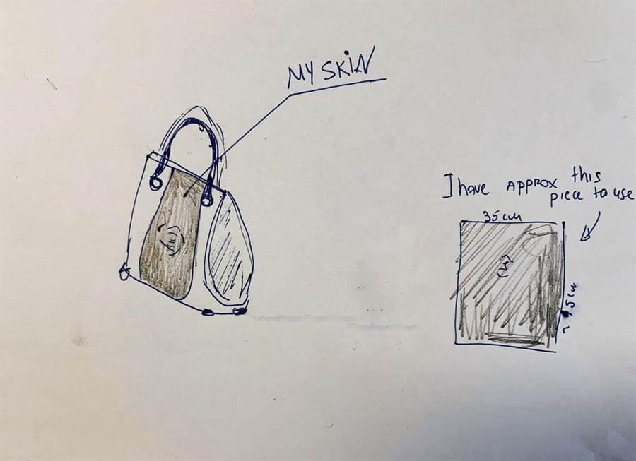 瓊在網路上貼出設計圖(圖翻攝自/sewport.com)