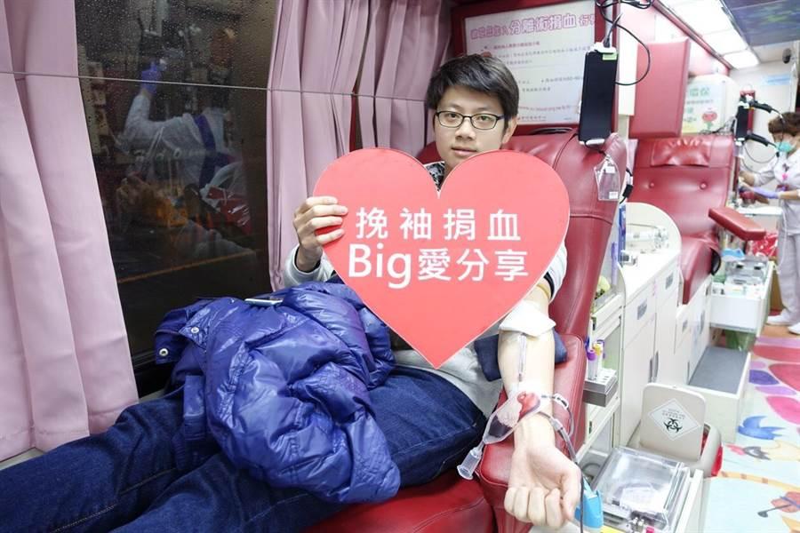 Big City遠東巨城購物中心響應捐血活動,並成功募集超過600袋血。(邱立雅攝)