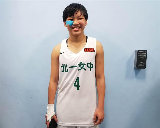北一女中的「微笑射手」田桂禎。(陳筱琳攝)