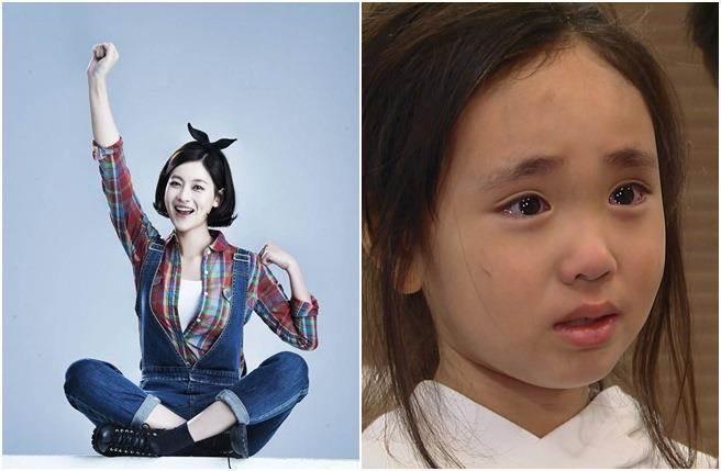 金智怜在《我是張寶利》中飾演吳漣序的女兒「雨丹」,落淚模樣楚楚可憐。(圖/中天提供)
