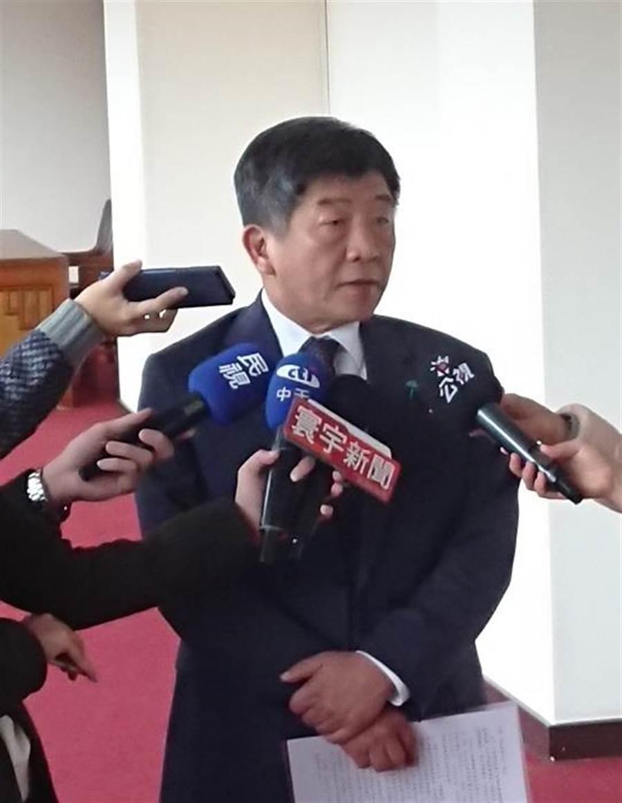 衛福部長陳時中表示,未來社工人員將會補足3021人。(陳志祥攝)