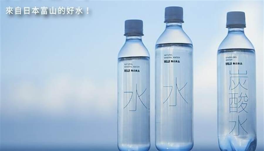 日本富山天然礦泉水、礦泉氣泡水兩款商品,驗出致癌物質溴酸鹽超標。(圖/無印良品官網)