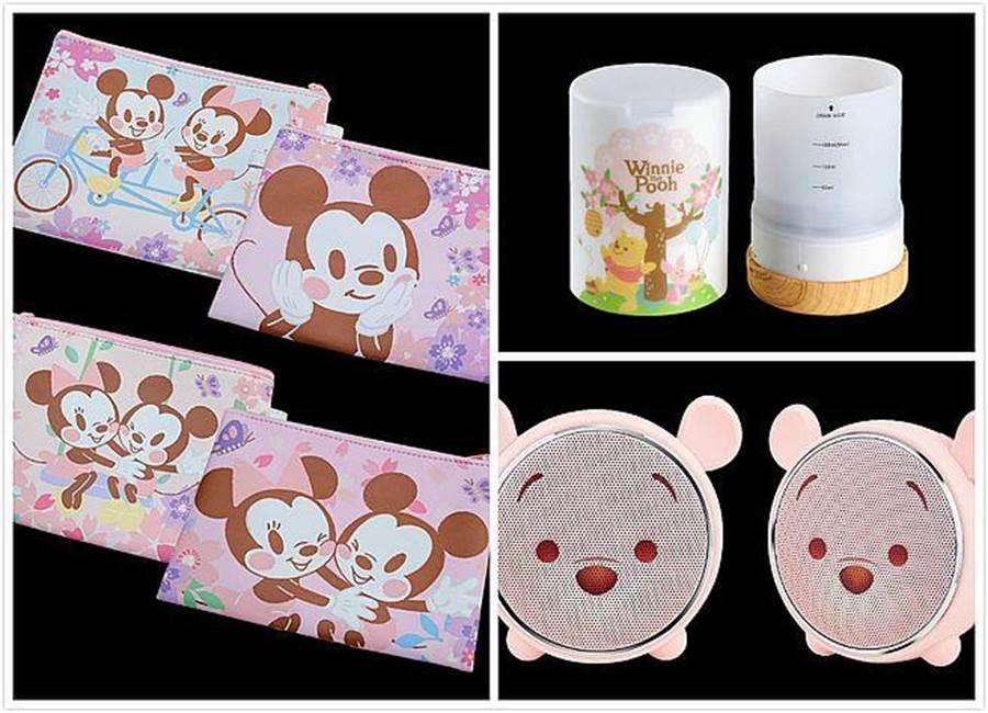 《迪士尼櫻花季》限定商品。(台灣華特迪士尼提供)