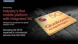 高通發表業界首款整合5G功能之行動平台