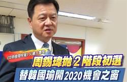 《中時晚間快報》周錫瑋拋2階段初選 替韓國瑜開2020機會之窗