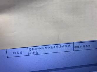 柯呈枋選立委仍任參事 中市:符合選罷法可登記為候選人
