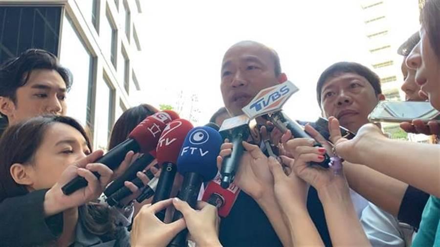 高雄市長韓國瑜(中)。(柯宗緯攝)