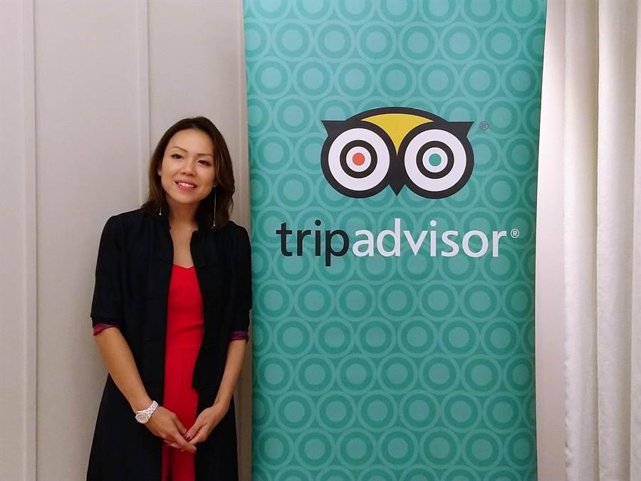 TripAdvisor發言人陳靜怡(Cindy)。(林資傑攝)