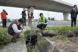 西濱大安段南安路口排水設計不當 遇雨則淹