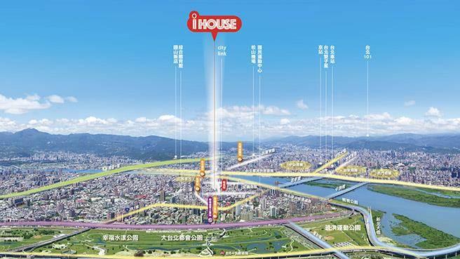 僑大興i-House僅一橋之隔到台北市中心。