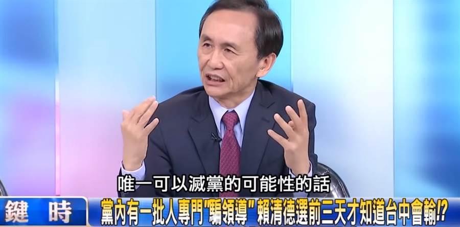資深媒體人,美麗島電子報董事長吳子嘉上政論節目。(圖/截自關鍵時刻節目畫面)