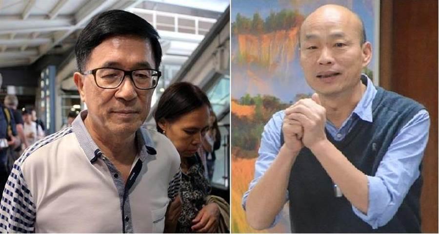 前總統陳水扁(左)、高雄市長韓國瑜(右)。(圖/合成圖,本報資料照)