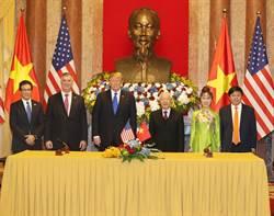 越捷航空在川普與阮富仲見證下,大手筆簽訂價值180億美元,100架波音新機與GE長期引擎支援合作合約