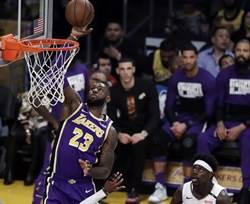 NBA》一眉哥末節又被冰 坐見詹皇射翻鵜鶘